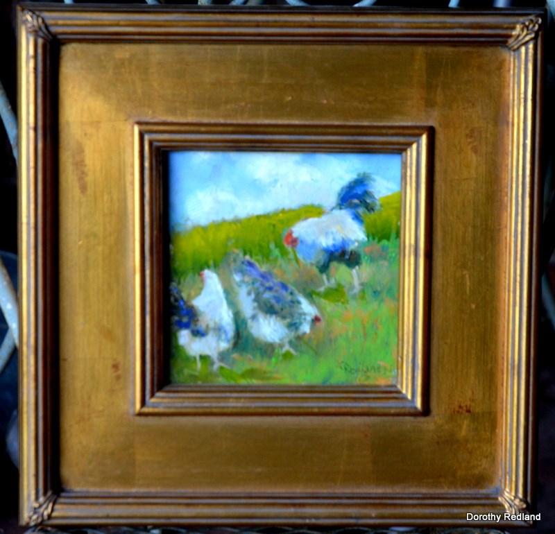 """All chickens matter"" original fine art by Dorothy Redland"