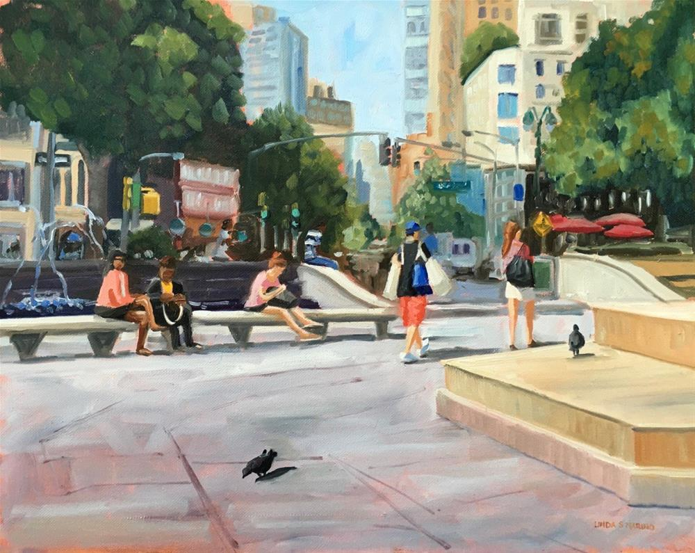 """Summer Day in the City"" original fine art by Linda Marino"