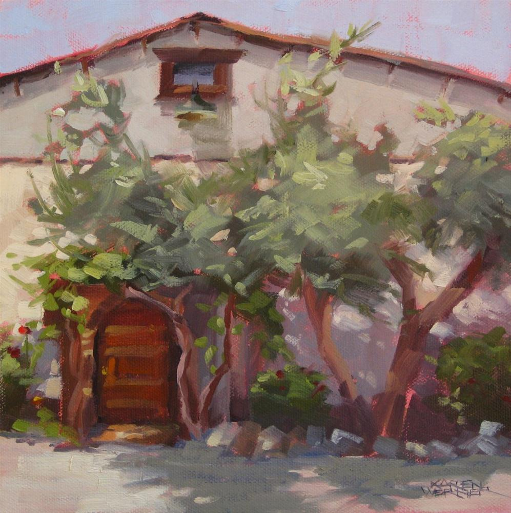 """Winery Shadows"" original fine art by Karen Werner"