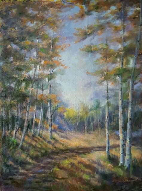 """""""Autumn Begins"""" original fine art by Tammie Dickerson"""
