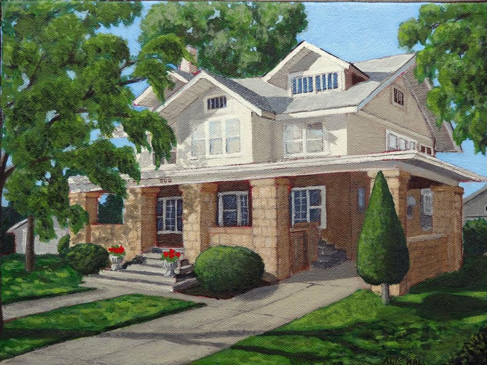 """""""Our House"""" original fine art by Ande Hall"""