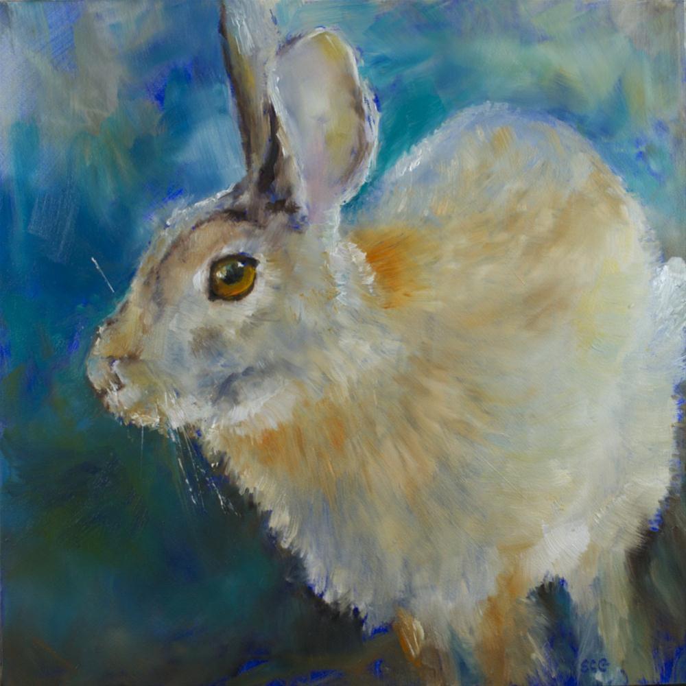 """Rabbit Race"" original fine art by Sue Churchgrant"