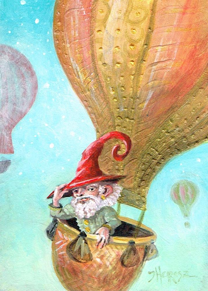 """Voyage to Parts Un-Gnome"" original fine art by Theresa Taylor Bayer"
