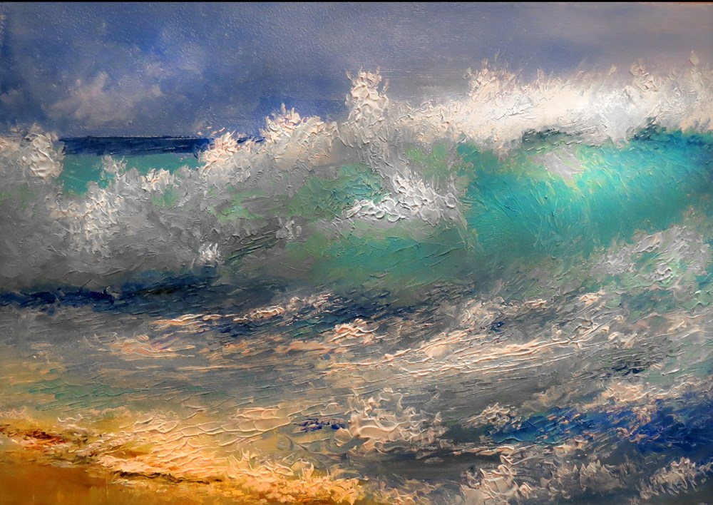"""Big Wave"" original fine art by Bob Kimball"