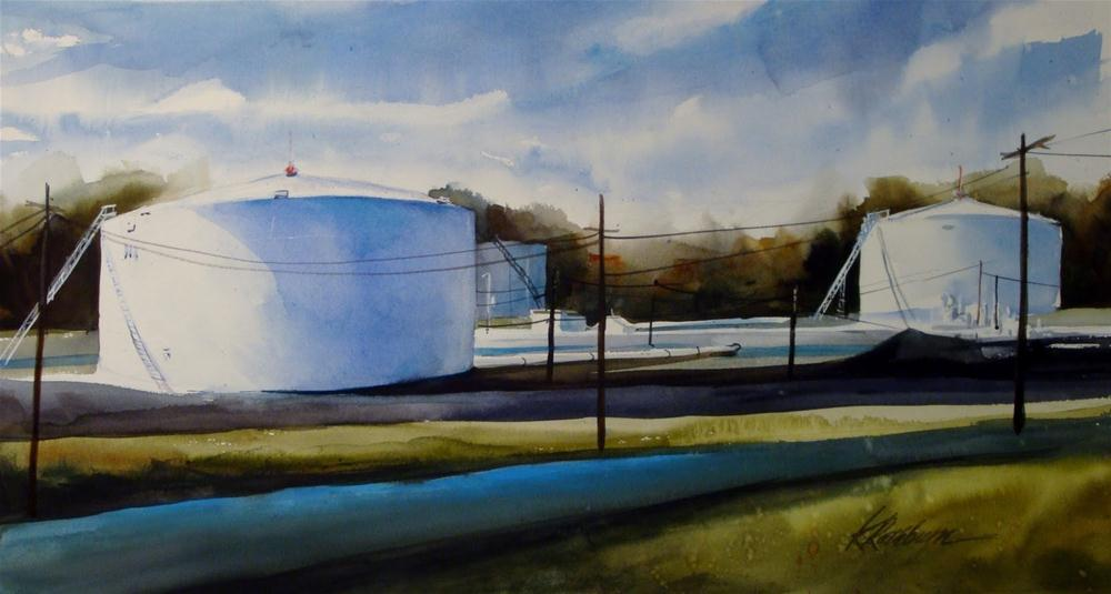 """""""Amoco Oil"""" original fine art by Kathy Los-Rathburn"""