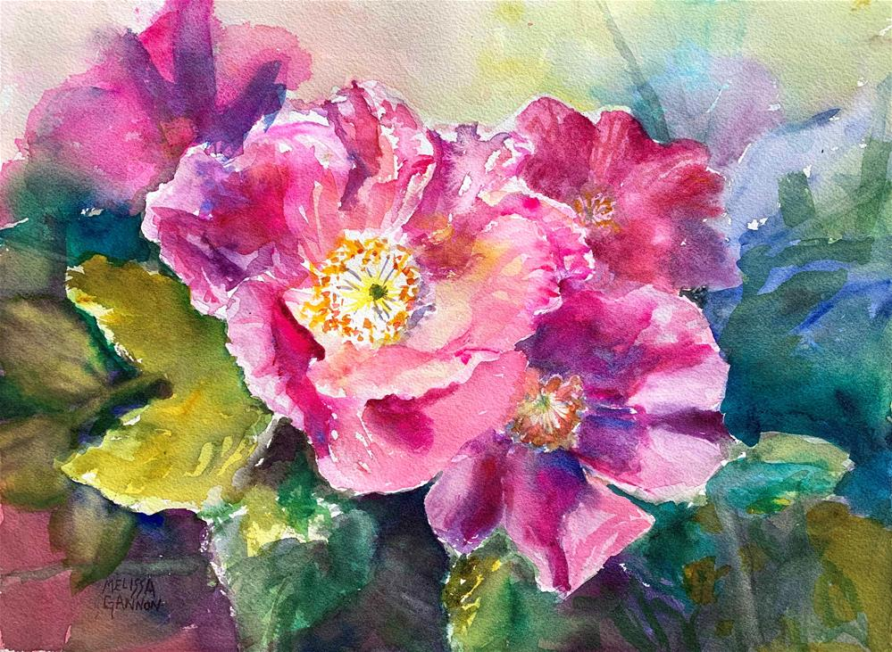 """Roses Blooming"" original fine art by Melissa Gannon"