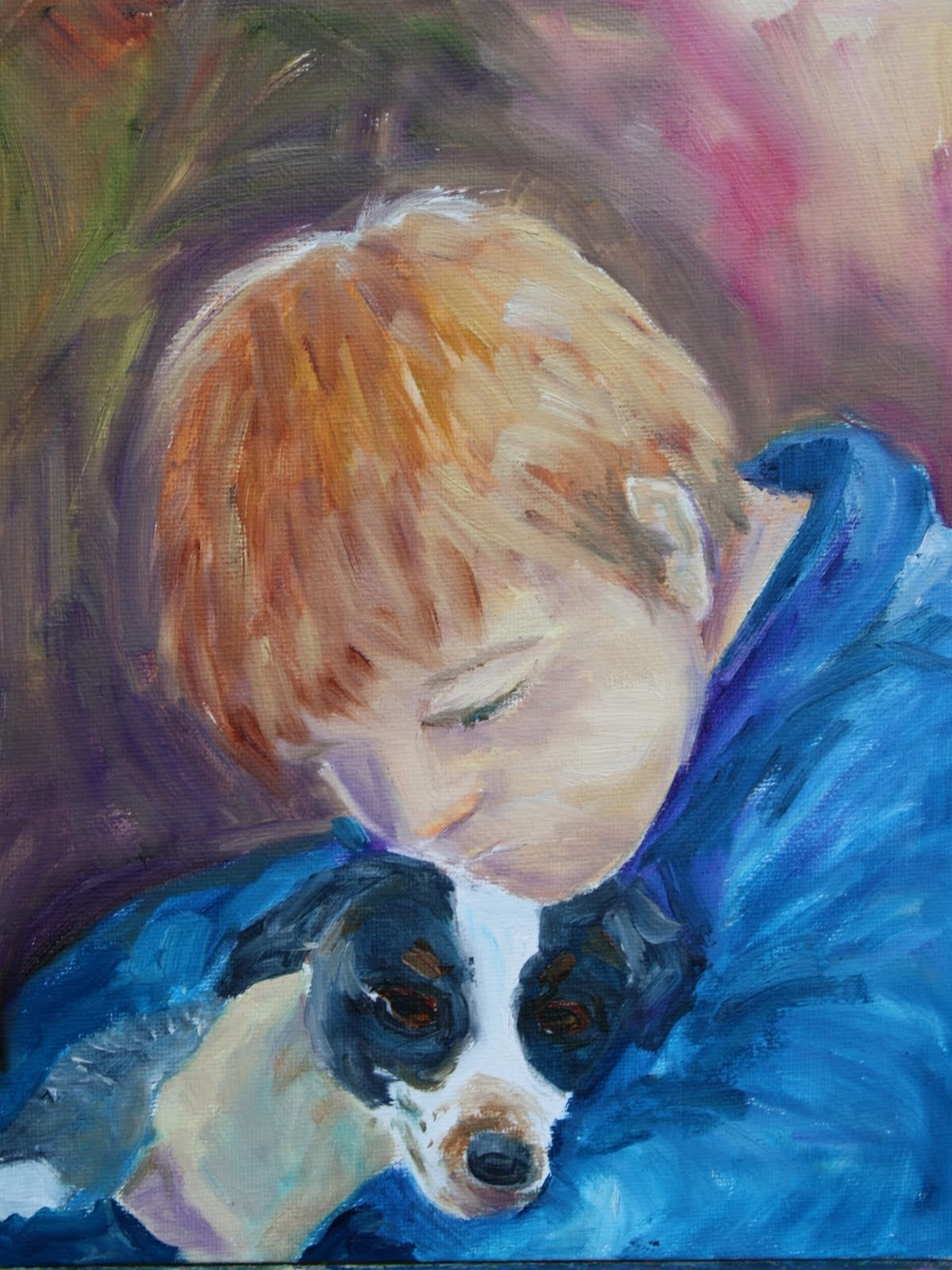 """""""Kevin and Murphy"""" original fine art by Maggie Flatley"""