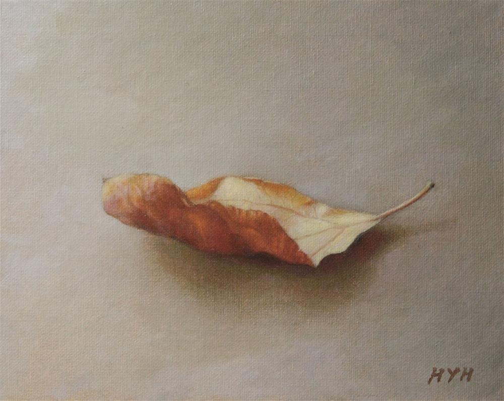 """Tree leaf"" original fine art by Yuehua He"