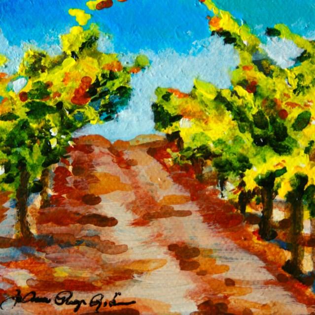 """Vineyard Hallway"" original fine art by JoAnne Perez Robinson"