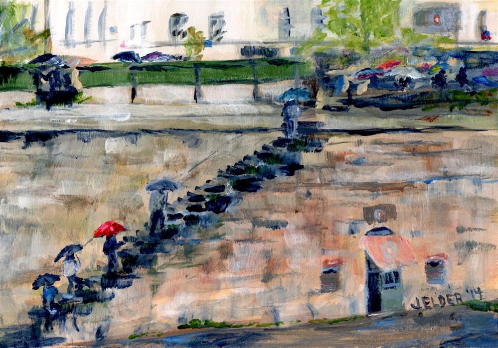 """Paris No. 42, By The River"" original fine art by Judith Elder"