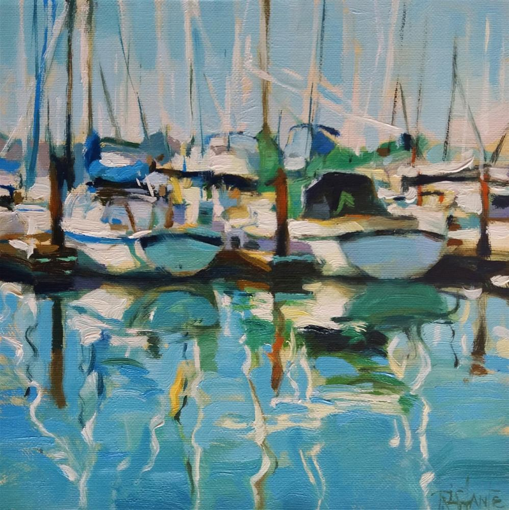 """Sailing ships"" original fine art by Víctor Tristante"