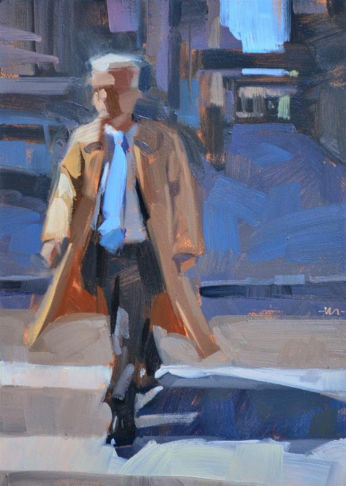 """Blue Tie Man"" original fine art by Carol Marine"