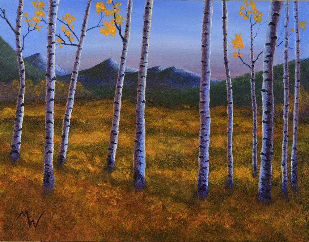 """Blue Aspen"" original fine art by Michelle Wolfe"