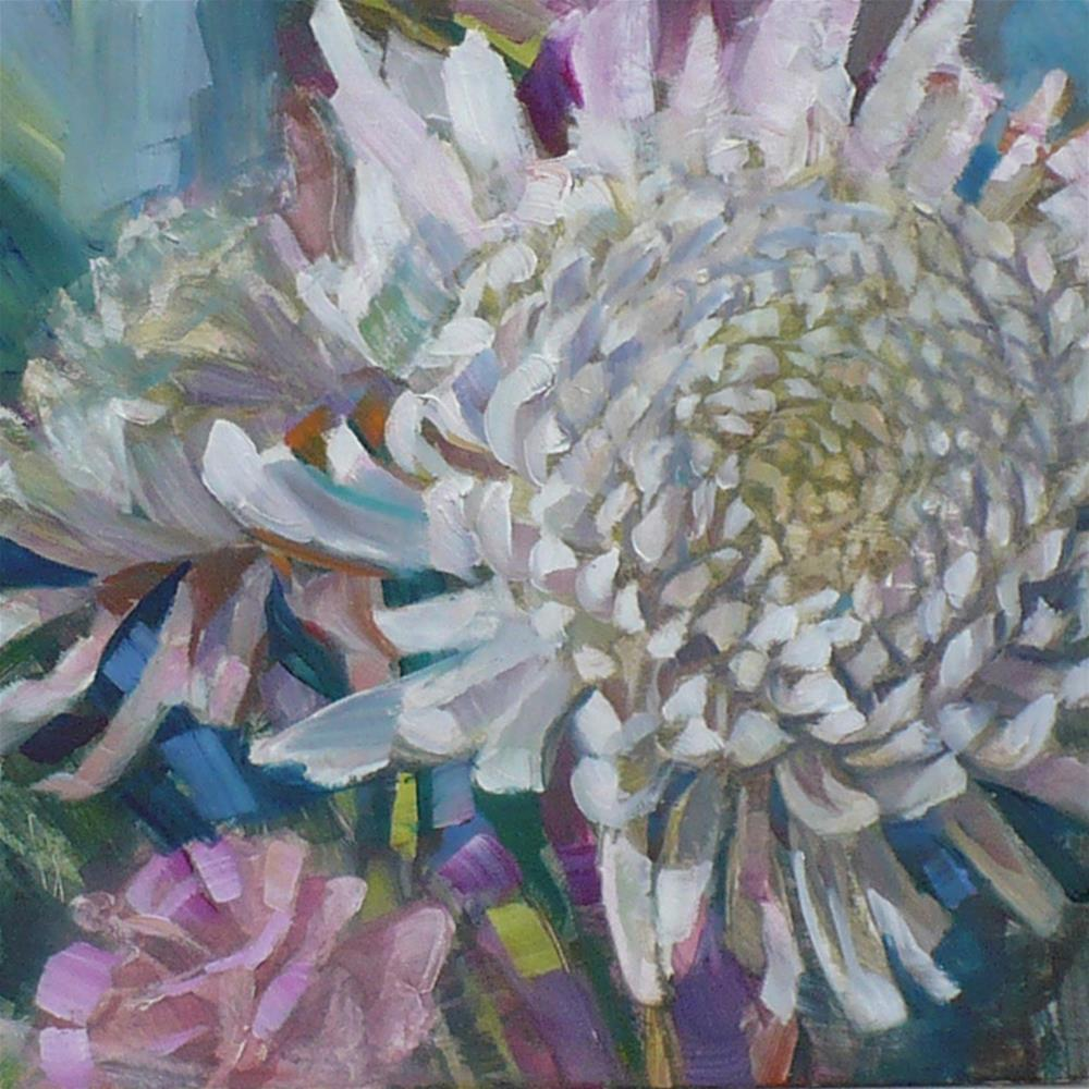 """Chrysanthemum"" original fine art by Nicoletta Baumeister"