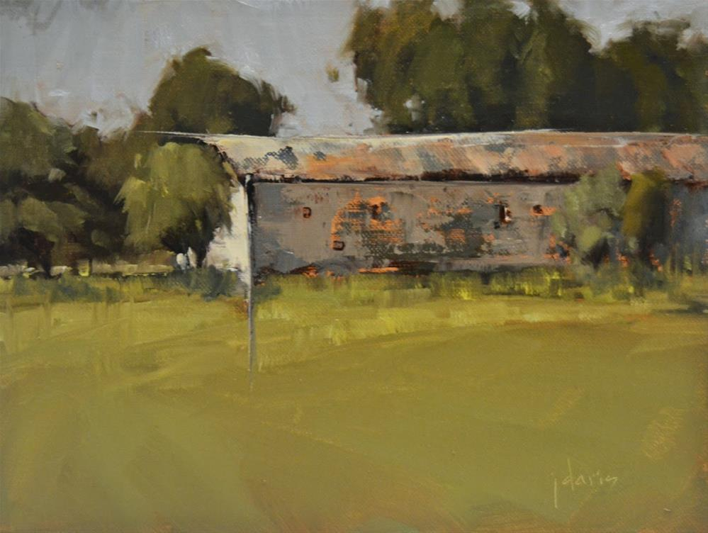 """""""Long Barn"""" original fine art by Julie Davis"""