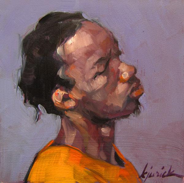 """100 Faces, No. 42"" original fine art by Karin Jurick"