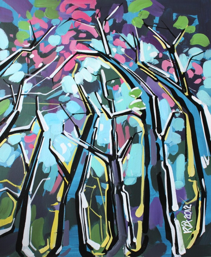 """""""Tree abstraction 10"""" original fine art by Roger Akesson"""