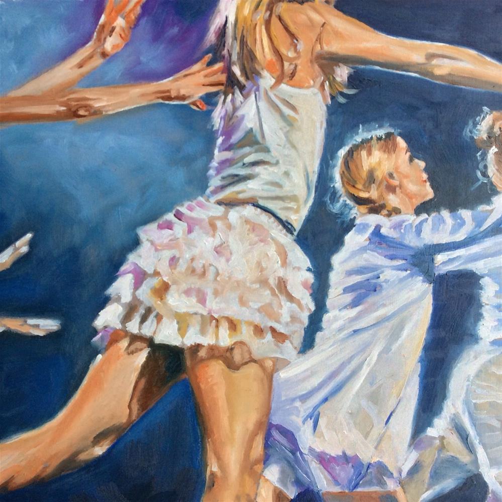 """""""Dancing"""" original fine art by Sonja Neumann"""