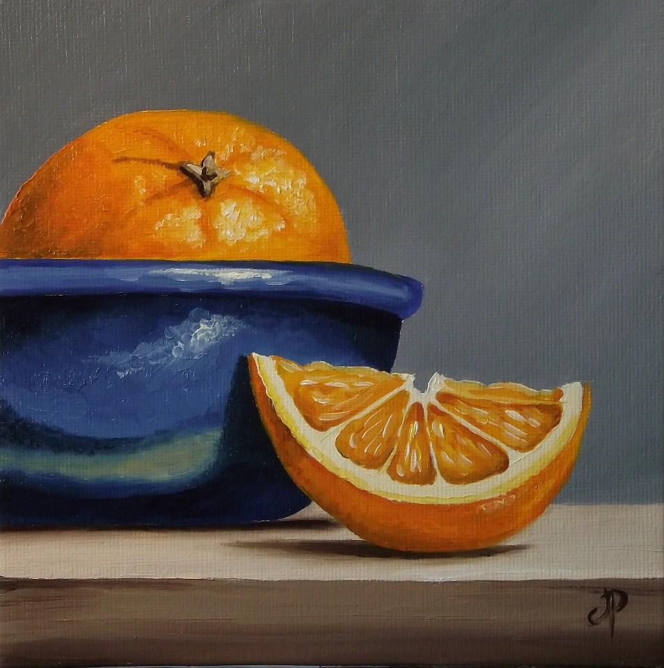 """Orange bowl"" original fine art by Jane Palmer"