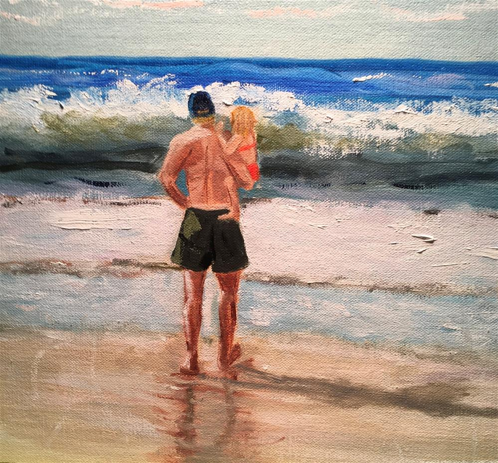 """""""Same Dad Different Daughter (commissioned piece)"""" original fine art by Patty Barnes"""