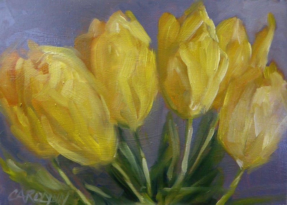 """Seven In A Row"" original fine art by Carolynn Doan"