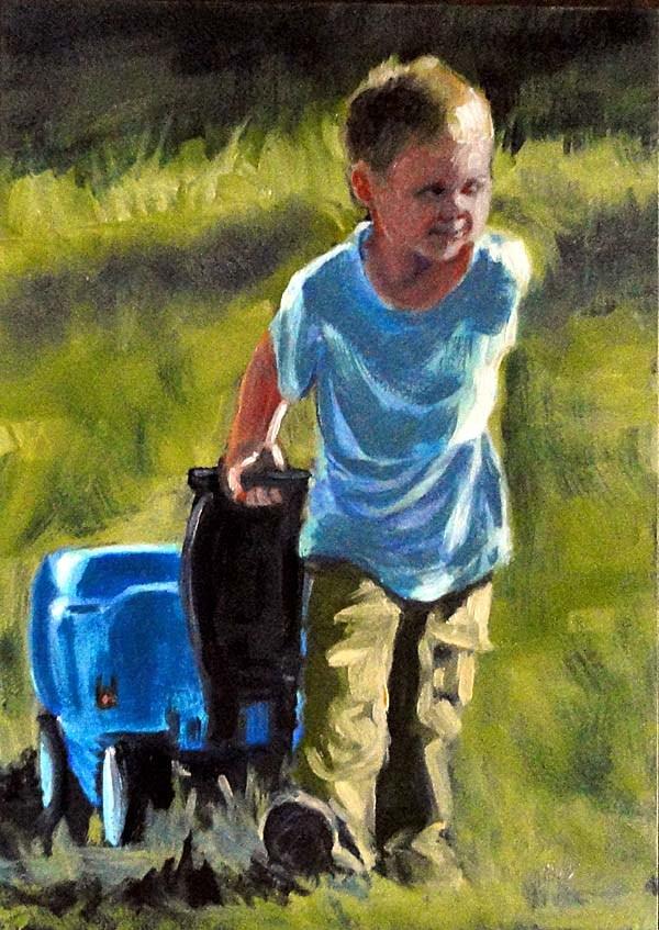 """""""Wagonful of Dreams"""" original fine art by Cietha Wilson"""