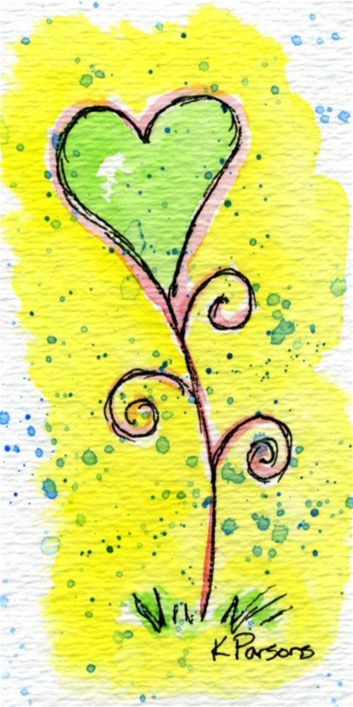 """Heart Bloom"" original fine art by Kali Parsons"