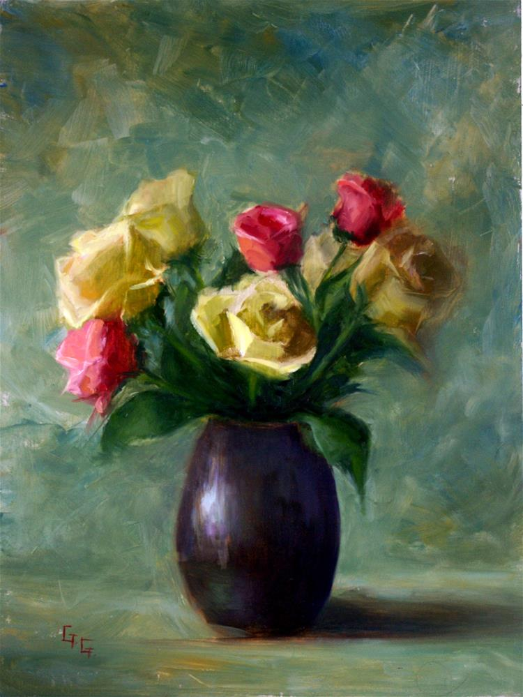 """Bouquet of Roses"" original fine art by Gail G. Slockett"