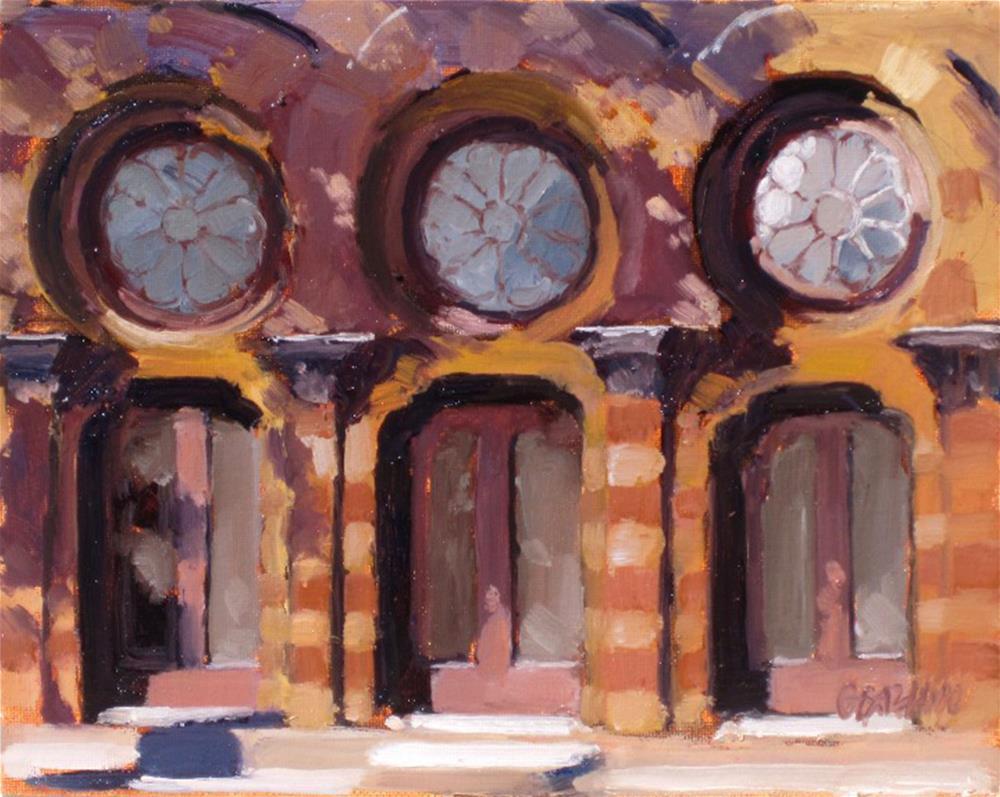 """Farmers and Exchange Bank"" original fine art by Dan Graziano"