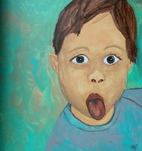 """""""Lucas"""" original fine art by Kathleen Carrier"""