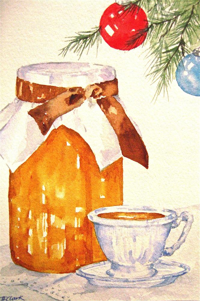 """Toast, Tea, and Marmalade"" original fine art by Judith Freeman Clark"
