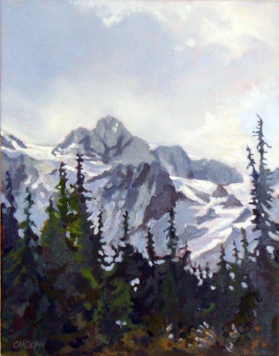 """""""View of Mount Shuksan"""" original fine art by Carolynn Doan"""