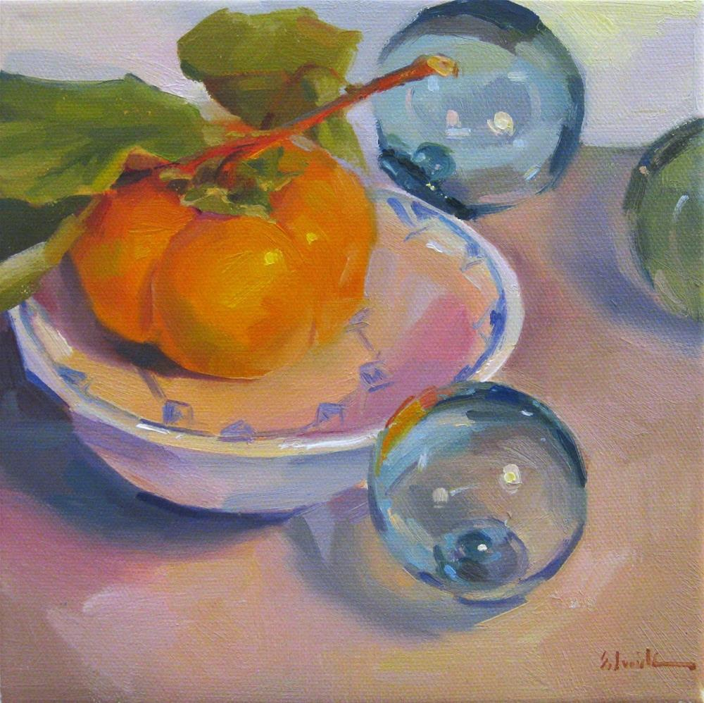 """""""Persimmon and Floats"""" original fine art by Sarah Sedwick"""