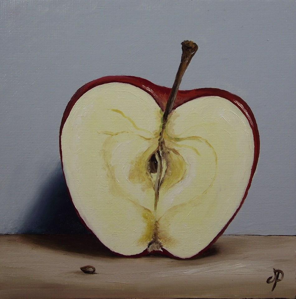 """Apple half"" original fine art by Jane Palmer"