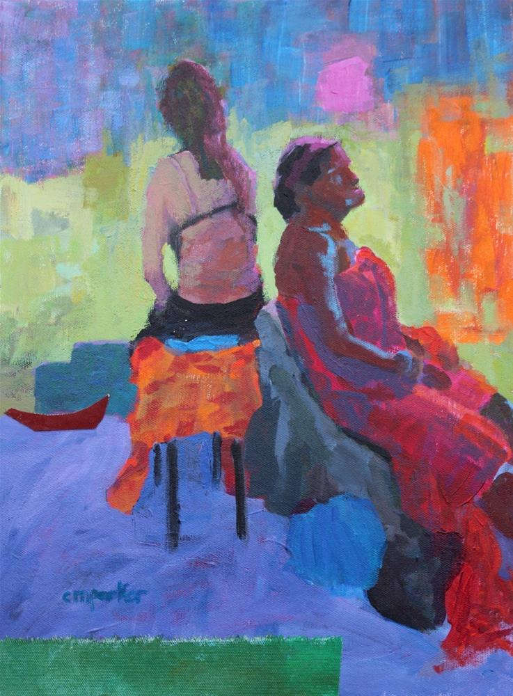 """""""Figurative Acrylic and Collage"""" original fine art by Christine Parker"""