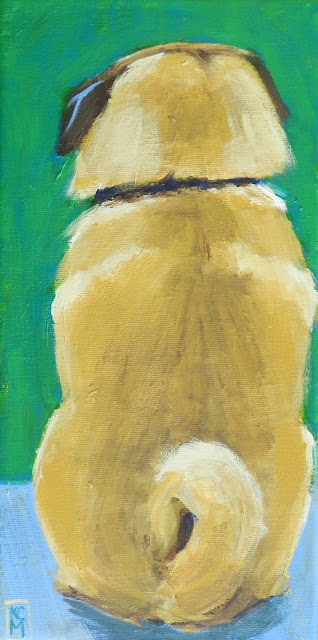 """The Observer, 12x6 Inches, Original Acrylic Painting by Kelley MacDonald"" original fine art by Kelley MacDonald"
