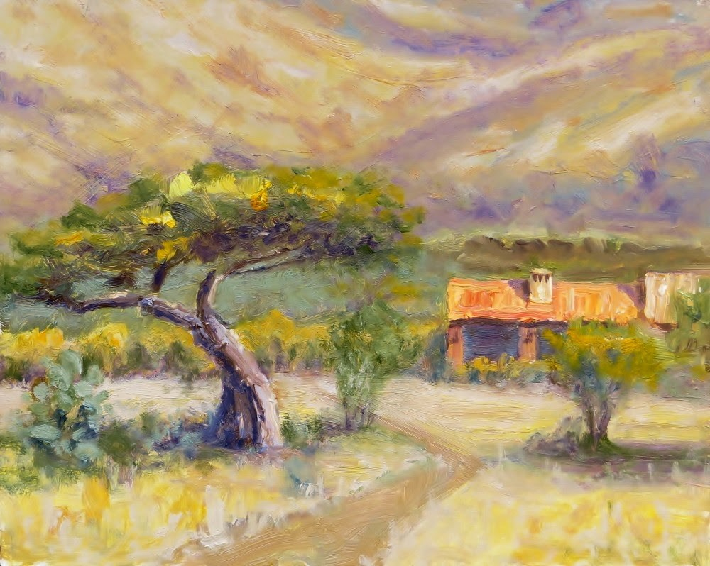 """Ranch House"" original fine art by Richard Kiehn"