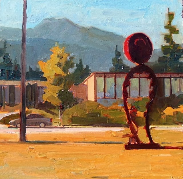 """Art and Architecture  Port Angeles Fine Art Center, plein air painting by Robin Weiss"" original fine art by Robin Weiss"