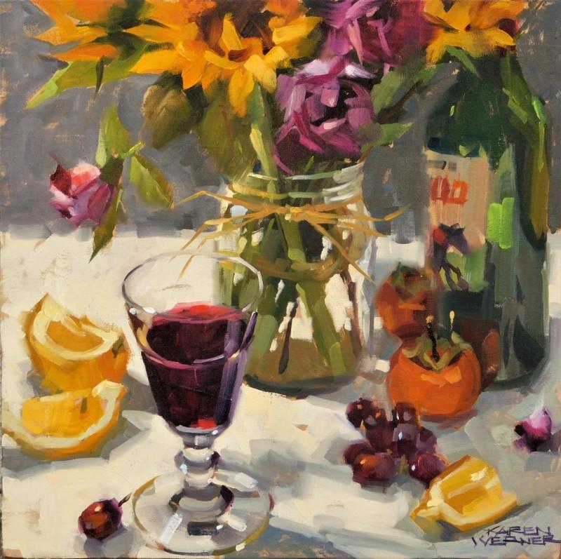 """""""Abundance"""" original fine art by Karen Werner"""