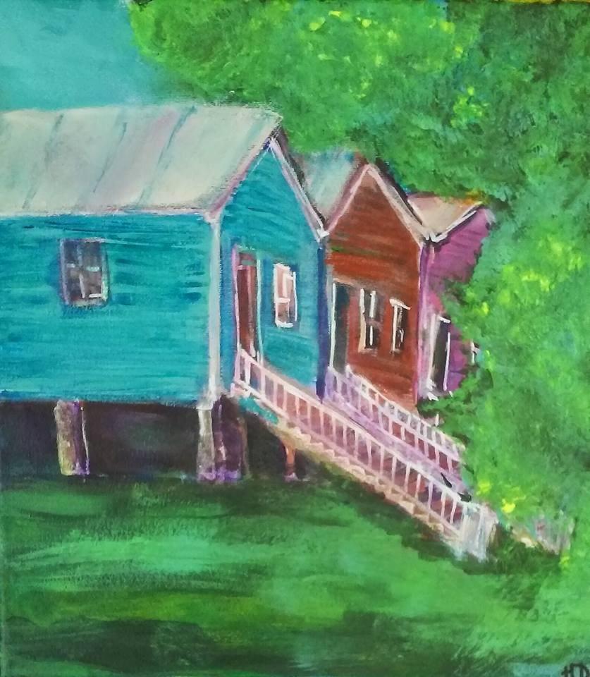 """""""Somewhere near Sprague Street"""" original fine art by Hallie Dozier"""