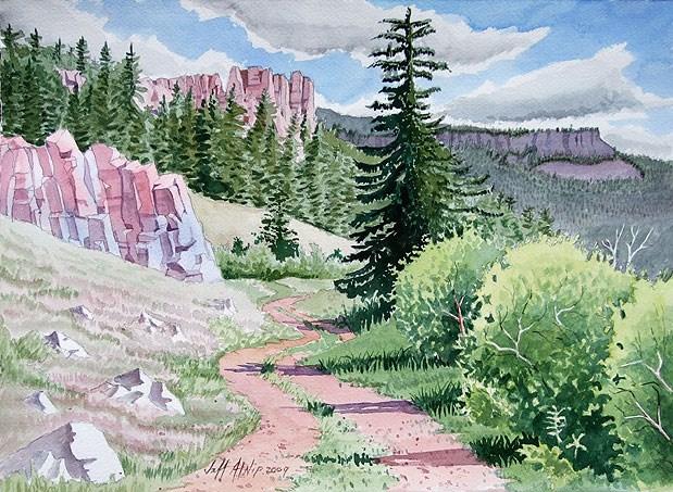 """Colorado Trail"" original fine art by Jeff Atnip"