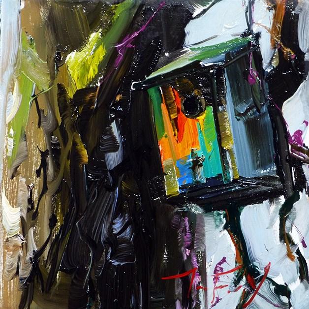 """""""Vogelhaus"""" original fine art by Jurij Frey"""