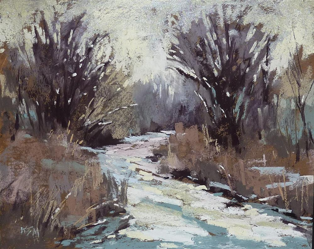 """""""How to Paint a Gray Day"""" original fine art by Karen Margulis"""