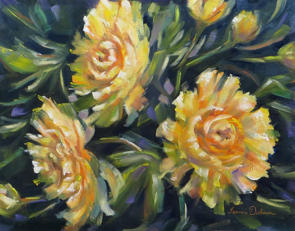 """Splash of Yellow"" original fine art by Tammie Dickerson"