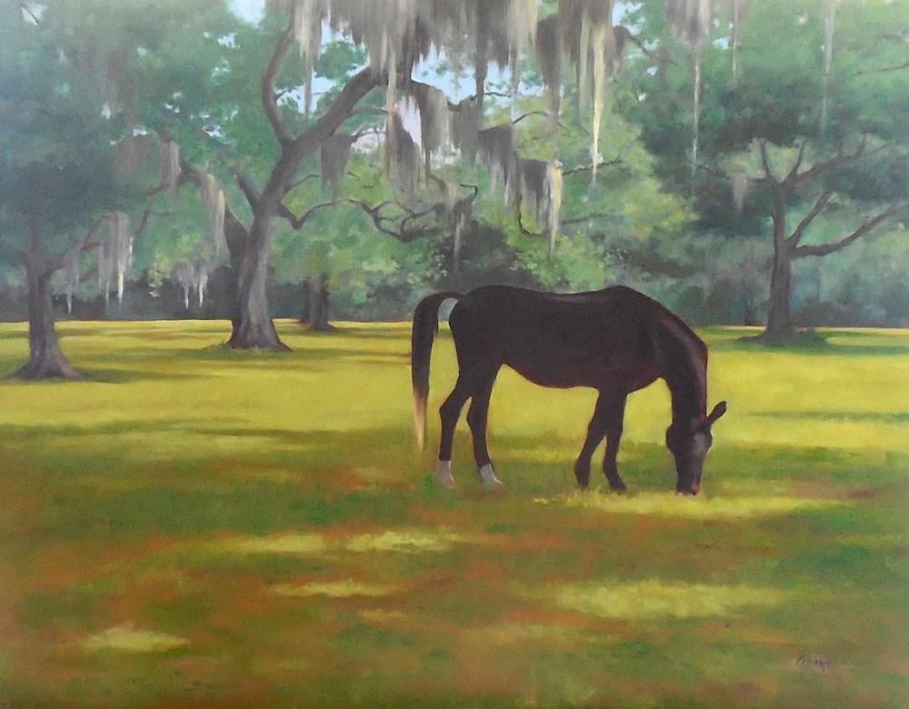 """Horse Country, 24x18 Landscape"" original fine art by Carmen Beecher"