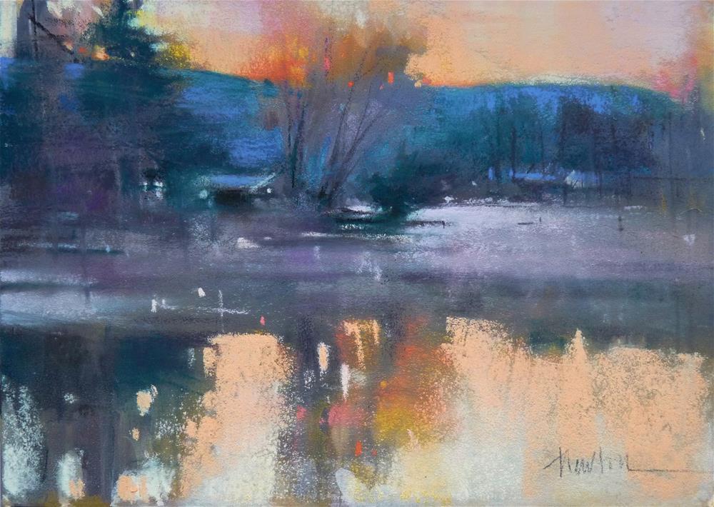 """""""Winter Sunrise"""" original fine art by Barbara Benedetti Newton"""