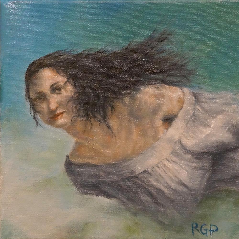 """Underwater Goddess"" original fine art by Rhea  Groepper Pettit"