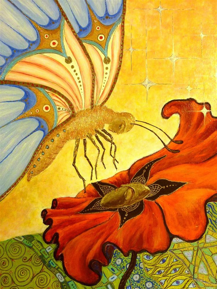 """Le Roi Papillon"" original fine art by Ande Hall"