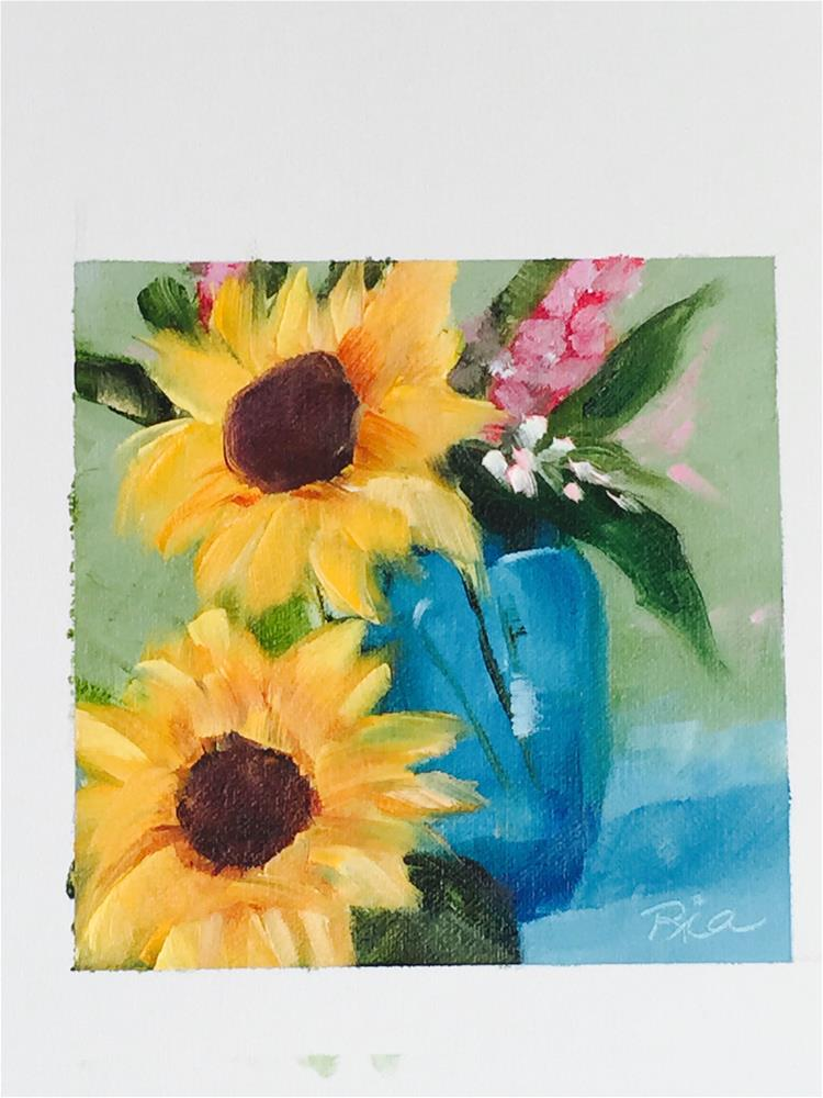"""""""Sunny Flowers"""" original fine art by Maria Reed"""