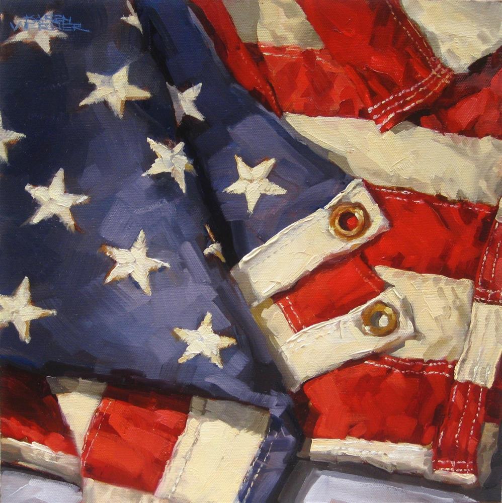 """""""Stars & Stripes"""" original fine art by Karen Werner"""